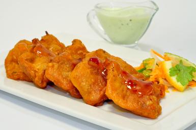 fish pakoda, punjabi fish pakoda, pakoda with pudina chutney
