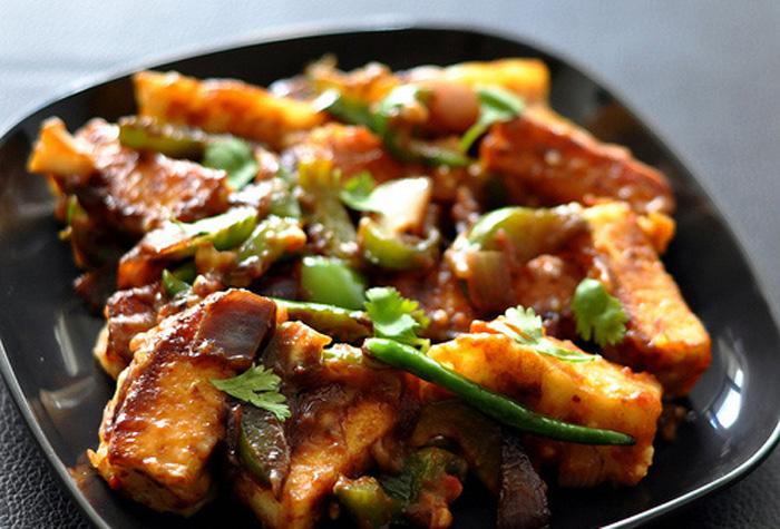 schezwan paneer, chinese paneer, schezwan cheese
