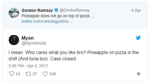 Gordon Ramsay Pineaaple Pizza Tweet 02