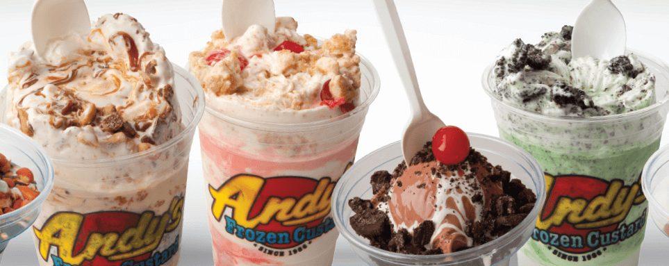 Andy's frozen custard menu