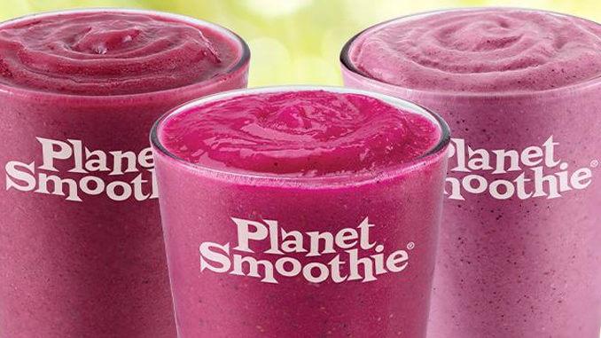 Planet Smoothie menu