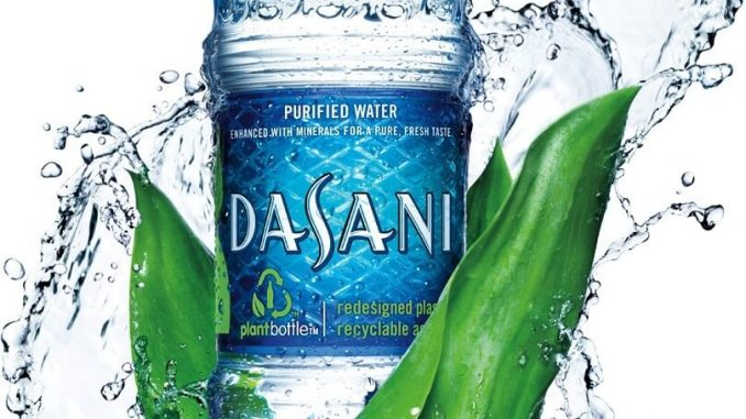 Dasani water prices