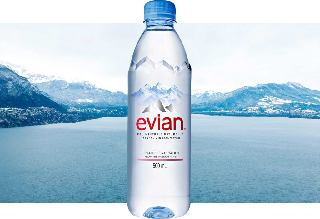 Evian Water prices