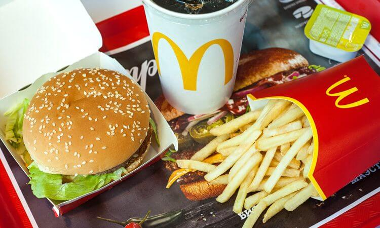 Food from McDonald's menu