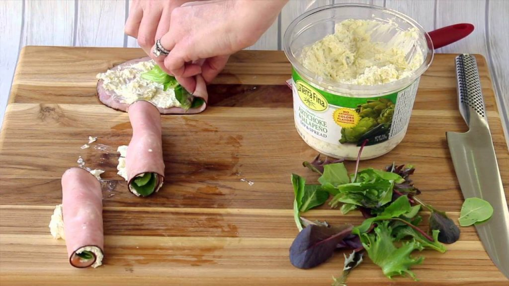 Easy Ham Artichoke Dip Bites