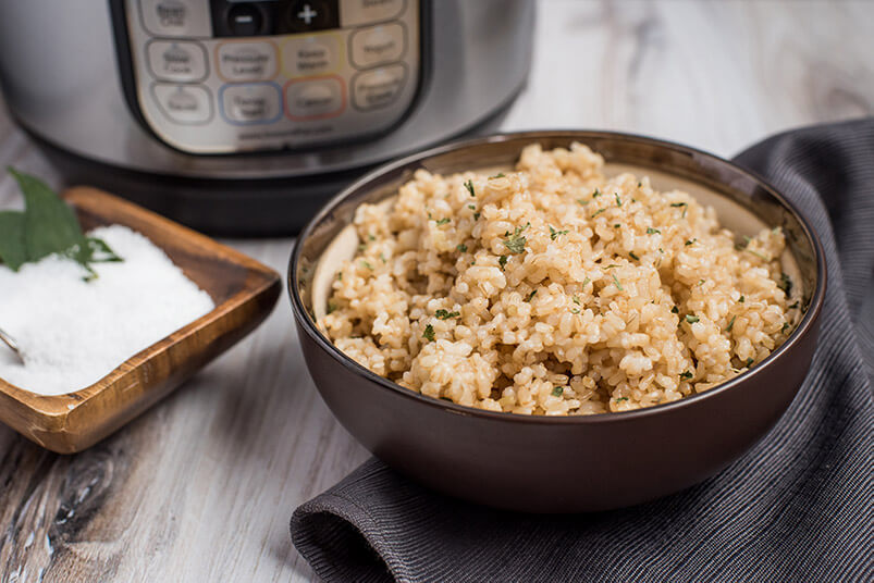Brown Rice Made In Rice Cooker