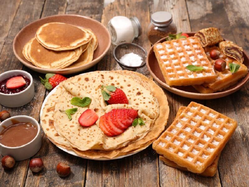 Crepes and Waffles menu