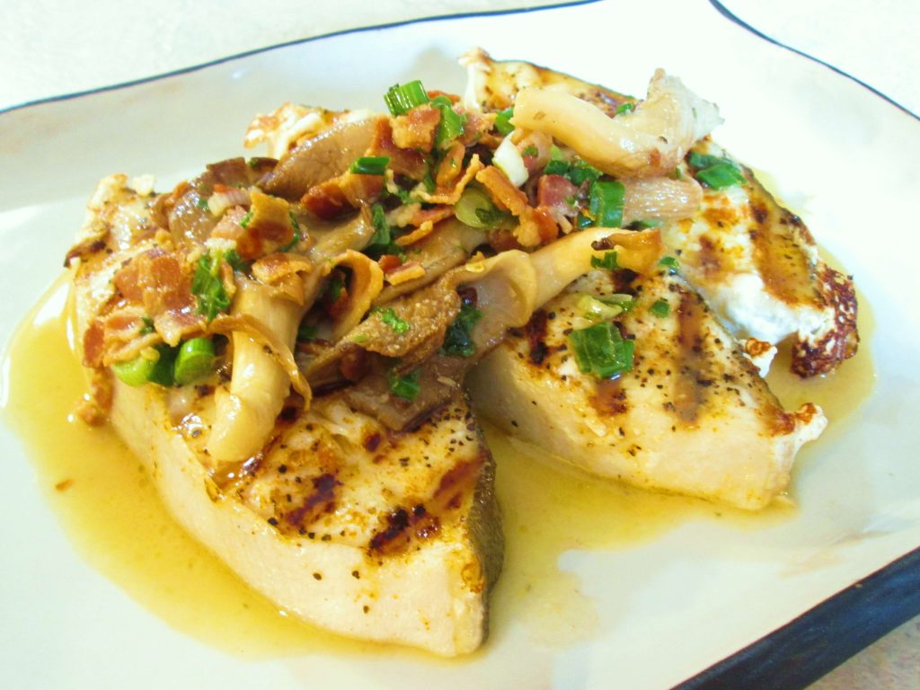Grilled Fish with Lemon Vegetable Sauce