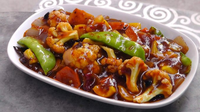 Indo-Chinese Spicy Szechuan Vegetables