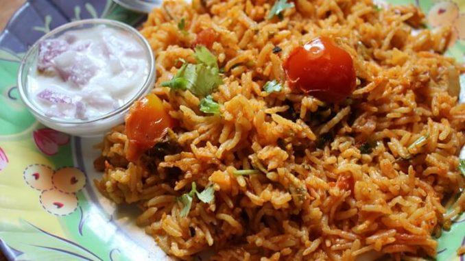 South Indian Tomato Rice recipe