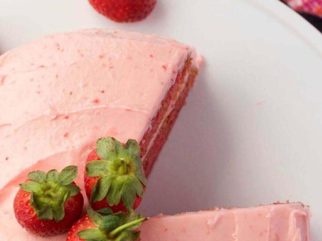 Vegan Strawberry Cake recipe