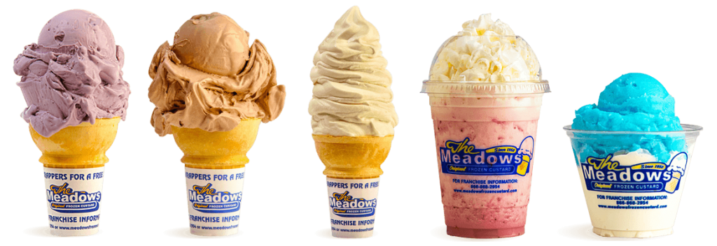 Meadows Frozen Custard menu