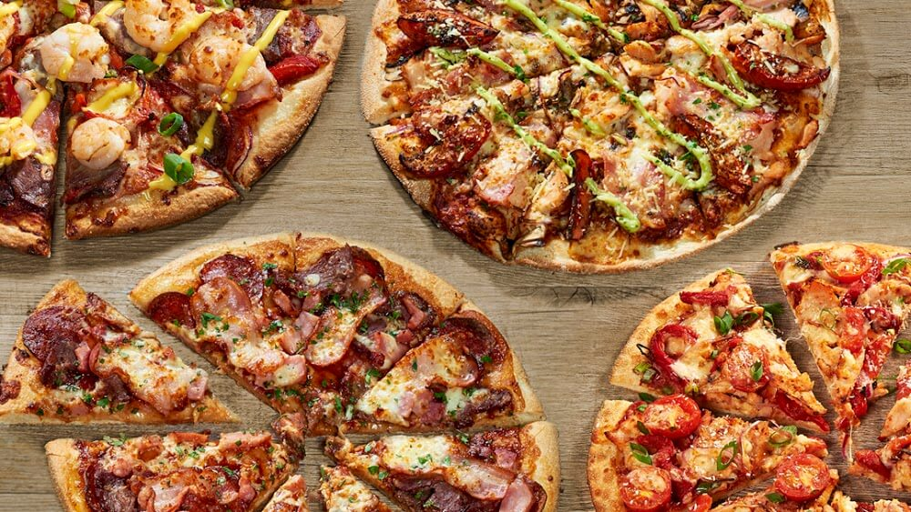 Pizzas from Pizza Capers