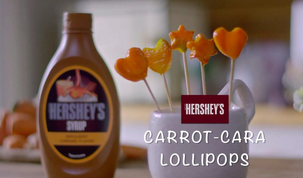 Carrot Cara Lollipop