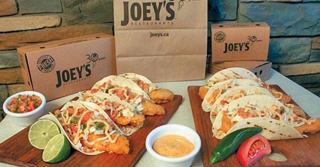 Joey's Seafood Menu