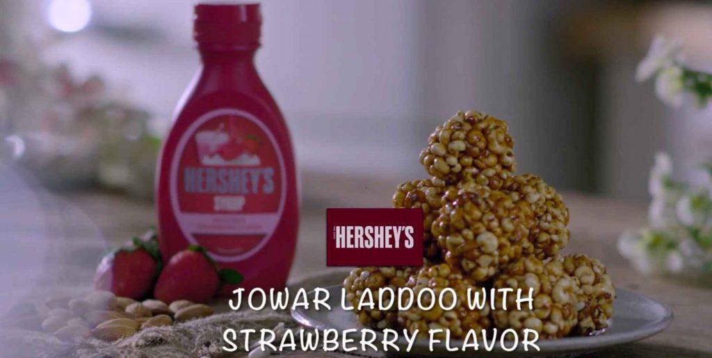 Jowar Laddoo With Strawberry Flavor recipe