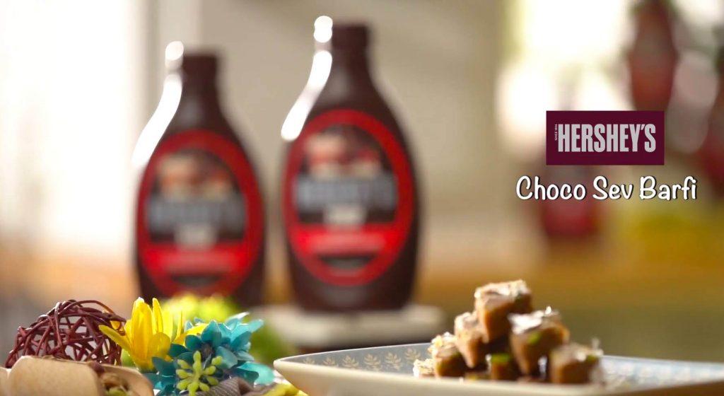 Choco Sev Barfi Recipe