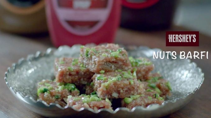 Hershey's Nuts Barfi recipe
