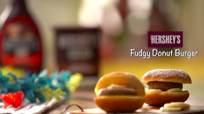 Fudgy Donut Burger recipe