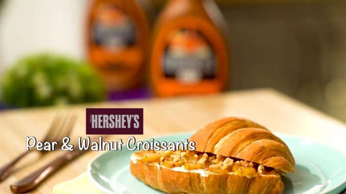Pear and Walnut Croissants recipe