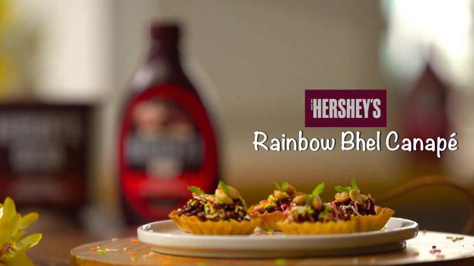 Hershey's Rainbow Bhel Canape Recipe
