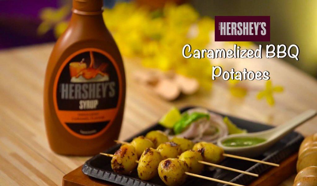 Hershey's Caramalised BBQ Potatoes recipe