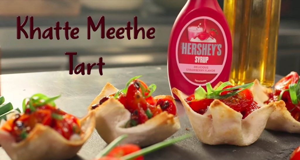 Hershey's Khatte Meethe Tart recipe