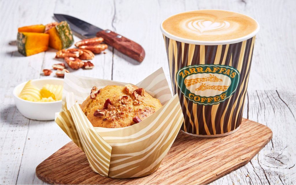 Zarraffa's coffee menu
