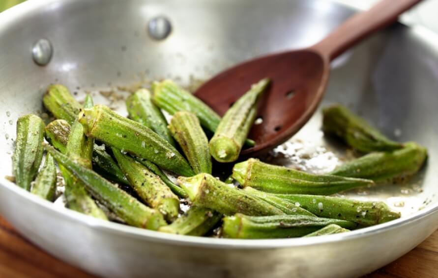 Sauteed Okra with Garlic Recipe