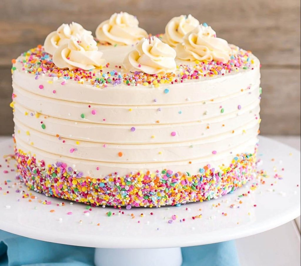 Vanilla Birthday Party Cake recipe