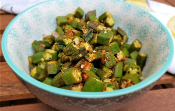 sauteed okra with garlic