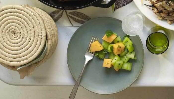 Cucumber Melon Salad reci[e