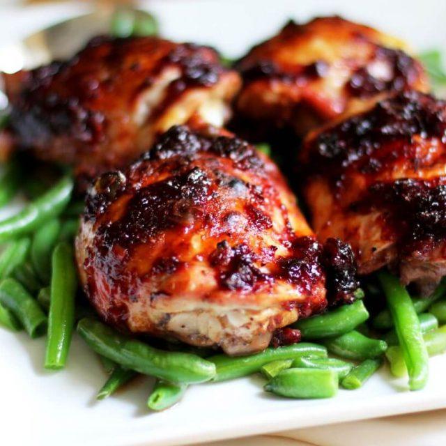 Sticky Glazed Asian Chicken recipe