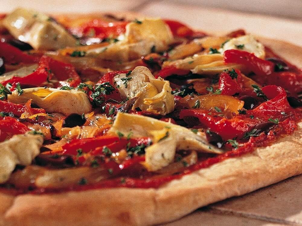 Cheeseless Pizza