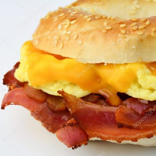Perfect breakfast, Bacon Egg Cheese Bagel Recipe