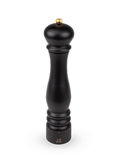 Matte Black Wood Pepper Mill with Crank Handle